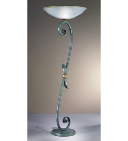 Impero Design Floor Lamp With Sinuous Arms And Blown Glass