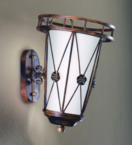 Grecia Design wall lamp With Hand Forged Details