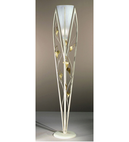 Butterfly design floor lamp that has shaped butterfly fly wing decorations