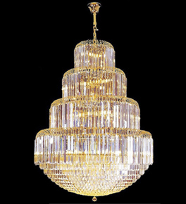 4 Tier Large Crystal Chandelier