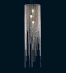 3 Light Layered Crystal Drop Chandelier