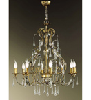 Villa Design Hand Bent Chandelier with Crystal Drops