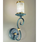 Impero Design wall lamp With Sinuous Arms And Blown Glass