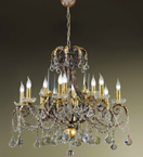 Ottocento Design Metal Frame Chandelier with Clear Crystals