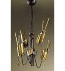 Arlecchino design 4 Light chandelier with Swarovski crystal details