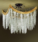Stalattite Design Chandelier with Ice Shard Effect Glass