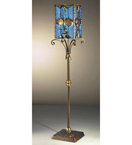 Decó Design metal floor lamp with murano glass details