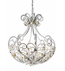 Dream Design Forged Iron and Glass Chandelier