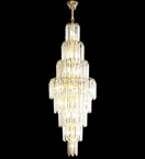 Diamond shaped crystal drop elegant chandelier