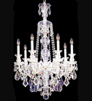 Elegant 7 light crystal drop chandelier
